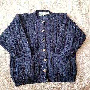 VTG Wool Cardigan Sweater Ireland Irish